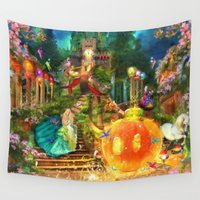 cinderella Wall Tapestries featuring Cinderella by Aimee Stewart