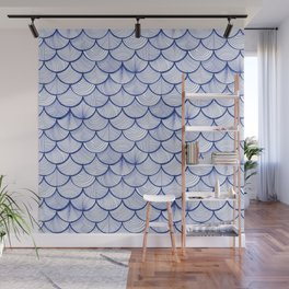 Scalloped Waves Wall Mural