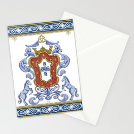 Portuguese Crest Stationery Cards