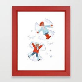 Snow Angels Framed Art Print