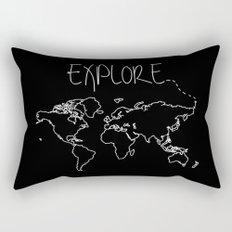 Explore World Map Rectangular Pillow