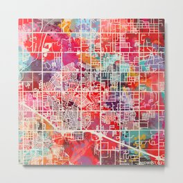 Midwest City map Oklahoma OK 2 Metal Print