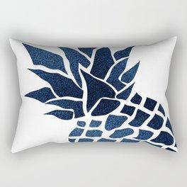 Pineapple, Big Blue, Denim Navy Rectangular Pillow