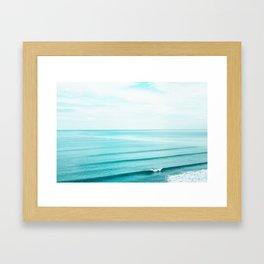 Minimal Beach Framed Art Print