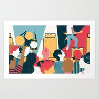 Crowd - (My Dad Used To Be So Cool) Art Print