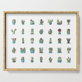 35 cactuses Serving Tray