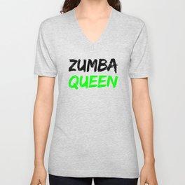 Zumba Queen (Green) Unisex V-Neck