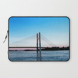 Mississippi River at Burlington, Iowa at Sunset Laptop Sleeve