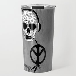 Love' skull -  a collaboration between Sam Guilhen and Gwenola de Muralt - Travel Mug