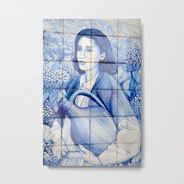 Azulejo mural Metal Print