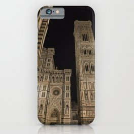 piazza del duomo cathedral square Firenze Tuscany Italy iPhone Case