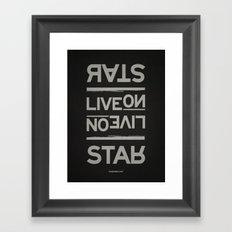 Palindrome: Rats Live On... Framed Art Print