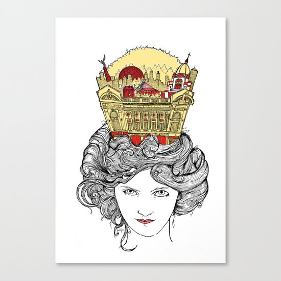 The Queen of Montreal Canvas Print