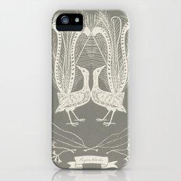 Lyrebird (smoke grey) iPhone Case
