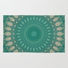 Green Abstract Mandala Rug