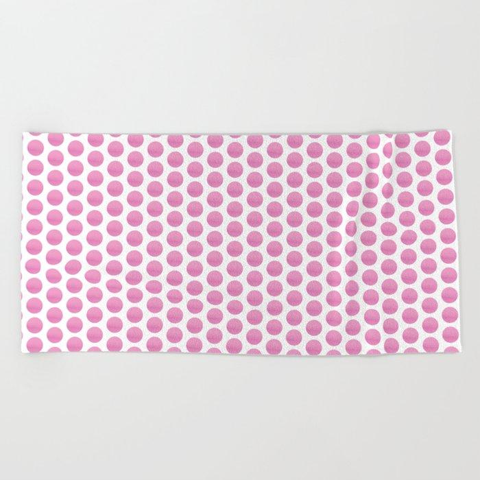Pink spots  Beach Towel