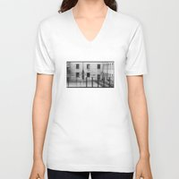 school V-neck T-shirts featuring School by Ibbanez