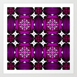 Purple Pattern Overload  Art Print