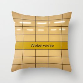 Berlin U-Bahn Memories - Weberwiese Throw Pillow