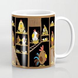 Chicken Coop - chickens, farm, illustration, birds Coffee Mug