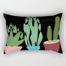 Contemporary Cacti Vector Art Rectangular Pillow