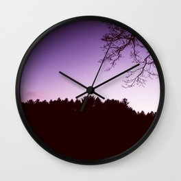 November Sunset Wall Clock