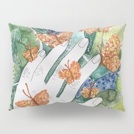 abstract whimsical nature art Pillow Sham