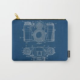 Camera blue Patent Carry-All Pouch