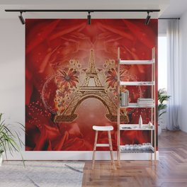 The eiffel tower with flowers Wall Mural