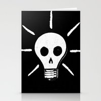 bad idea Stationery Cards featuring Bad Idea by ScottLaserowPosters