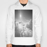 clouds Hoodies featuring Clouds Gray & White by 2sweet4words Designs