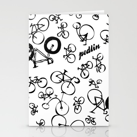 Bicycle World Stationery Cards