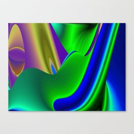 Abstract Rainbowart in retrostyle 21 Canvas Print