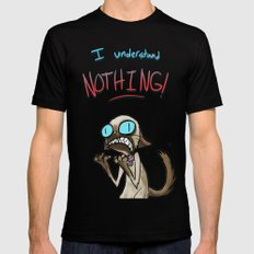 I UNDERSTAND NOTHING! SMALL Black Mens Fitted Tee