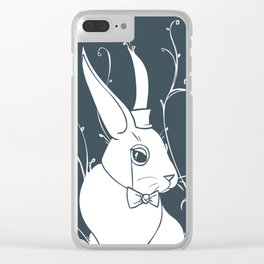 Follow the white rabbit! Clear iPhone Case