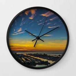 Dawn over Dana Point Wall Clock