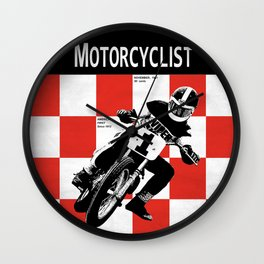 Motorcycle Magazine Number One 1961 Wall Clock