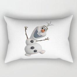 funny olaf Rectangular Pillow