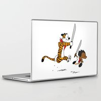 hobbes Laptop & iPad Skins featuring Bonifacio and Hobbes by Cesar Cueva