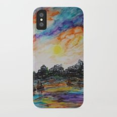 WAtercolor City Slim Case iPhone X
