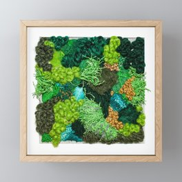 Moss Patch Framed Mini Art Print