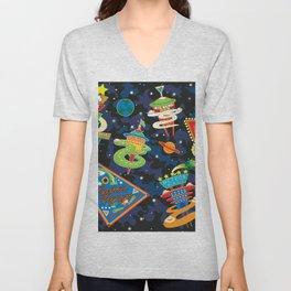 Cosmic Voyage Unisex V-Neck