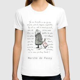 A Few Parisians: Marché de Passy by David Cessac T-shirt