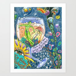I Drank Too Much Universe Today Art Print