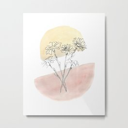 Daisy Floral Metal Print