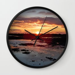 Sunset from the Beach Wall Clock