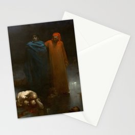 Gustave Doré - Dante And Virgil In The Ninth Circle Of Hell Stationery Cards