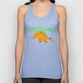 Dinosaur Puppy Love Unisex Tank Top