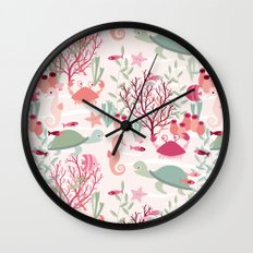 Life in the reef Wall Clock