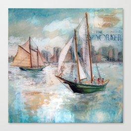 City Sailors Canvas Print